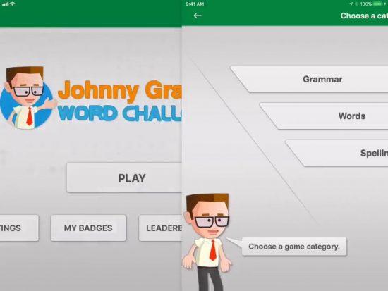 Johnny Grammar's Word Challenge top 5 ứng dụng phần mềm học tiếng anh miễn phí